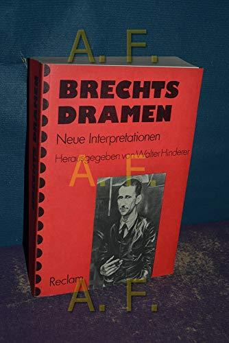 9783150103241: Brecht's Dramen (German Edition)