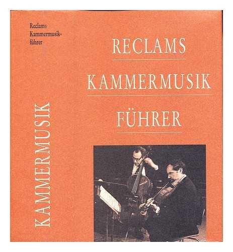 9783150103623: Reclams Kammermusikfuhrer