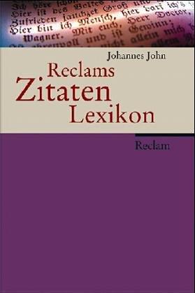 9783150103913: Reclams Zitaten-Lexikon (Universal-Bibliothek) (German Edition)