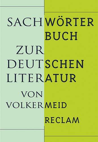 9783150104590: Sachwörterbuch zur deutschen Literatur.