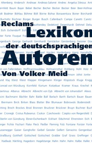 9783150104873: Reclams Lexikon der deutschsprachigen Autoren.