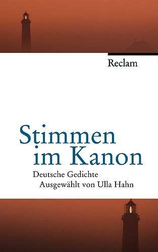 9783150105368: Stimmen im Kanon: Deutsche Gedichte