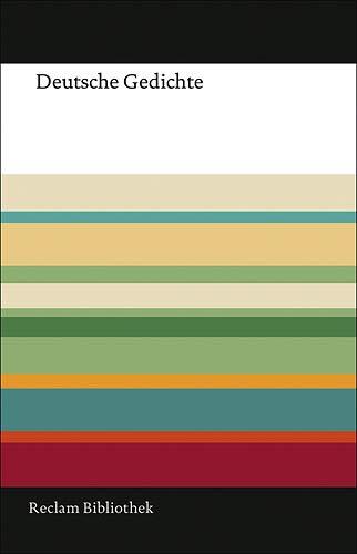 9783150107539: Deutsche Gedichte : Eine Anthologie
