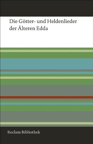 9783150108284: Die Götter- und Heldenlieder der Älteren Edda