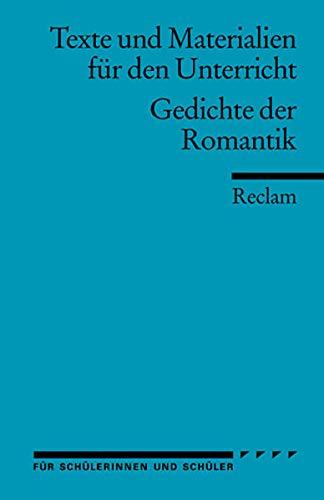 9783150150238 Gedichte Der Romantik Abebooks Lion