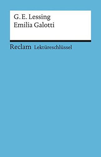 9783150153185: Emilia Galotti Lektureschlissel