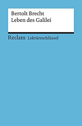 9783150153208: Leben des Galilei. Lektüreschlüssel für Schüler: 15320 (Reclam Universal-Bibliothek)