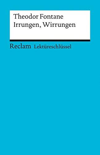 9783150153673: Irrungen, Wirrungen. Lekt�reschl�ssel f�r Sch�ler