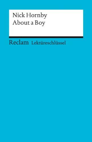 9783150153789: About a Boy. Lekt�reschl�ssel f�r Sch�ler