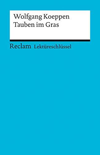 9783150154298: Koeppen, W: Tauben/Lektüreschlüssel