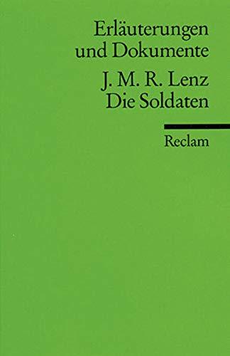 9783150160275: Die Soldaten. Erläuterungen und Dokumente