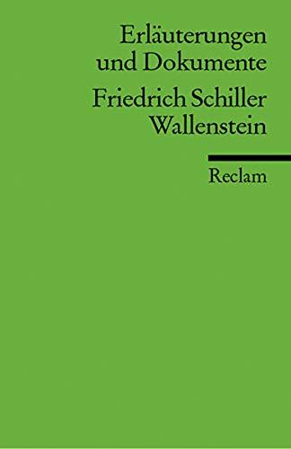 9783150160510: Wallenstein. ErlSuterungen und Dokumente