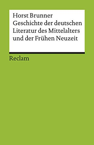 9783150176801: Geschichte der deutschen Literatur des Mittelalters und der Fr�hen Neuzeit im �berblick