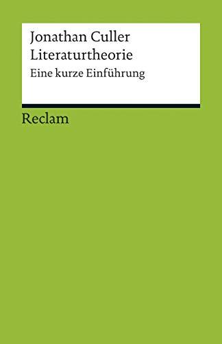 9783150176849: Literaturtheorie