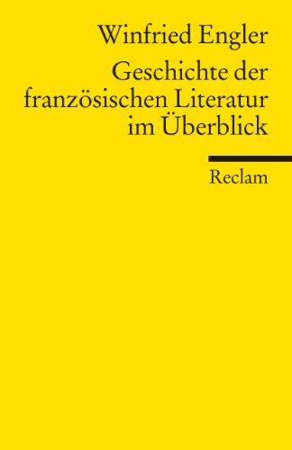 9783150180327: Geschichte der franz�sischen Literatur im �berblick