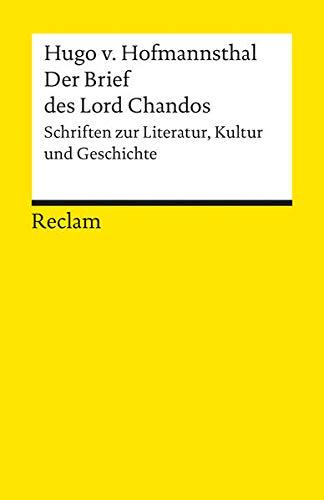 9783150180341: Der Brief des Lord Chandos. (Lernmaterialien)