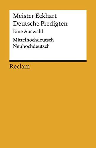 9783150181171: Deutsche Predigten. Mittelhochdeutsch/ Neuhochdeutsch.
