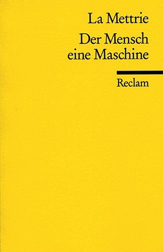 9783150181461: Der Mensch eine Maschine