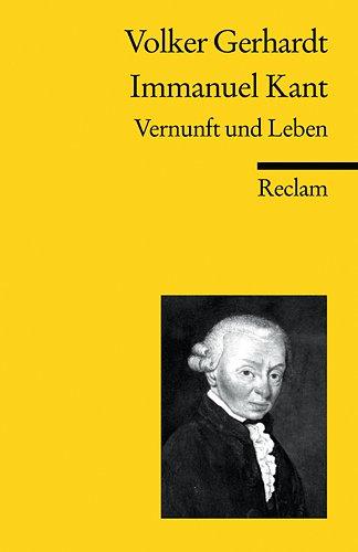 9783150182352: Immanuel Kant. Vernunft und Leben.