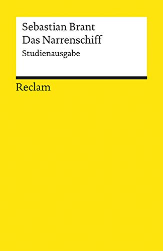 9783150183335: Das Narrenschiff. Studienausgabe : Mit allen 114 Holzschnitten des Drucks Basel 1494 (Reclam Universal-Bibliothek)