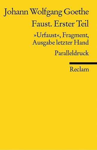 9783150183557: Faust. Erster Teil