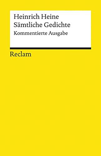 9783150183946: Sämtliche Gedichte: Kommentierte Ausgabe