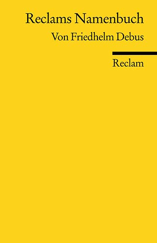 Reclams Namenbuch: Friedhelm Debus