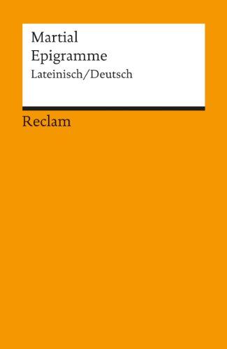 9783150185445: Epigramme: Latainisch / Deutsch