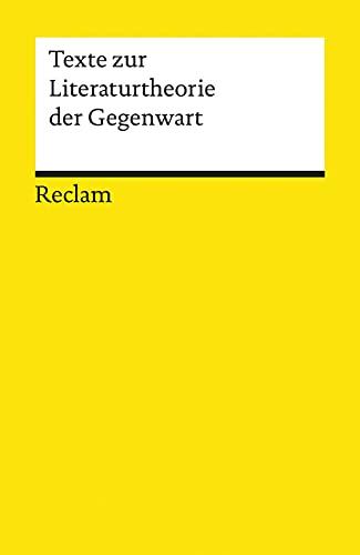 9783150185896: Texte zur Literaturtheorie der Gegenwart