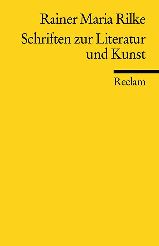 9783150186701: Schriften zur Literatur und Kunst