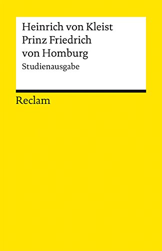 9783150188606: Prinz Friedrich von Homburg