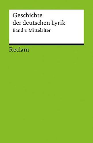 9783150188880: Geschichte der deutschen Lyrik
