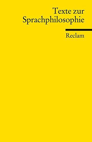 Texte zur Sprachphilosophie: Pfister, Jonas