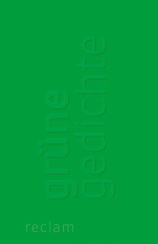 9783150189276: Grüne Gedichte