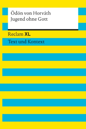 9783150190395: Jugend ohne Gott: Reclam XL - Text und Kontext