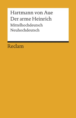 9783150191316: Der arme Heinrich: Mittelhochdeutsch/Neuhochdeutsch