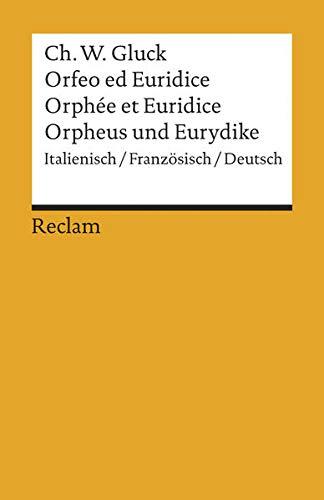 9783150191910: Orfeo/Orphée/Orpheus: Oper in drei Aufzügen. Italienisch/Französisch/Deutsch