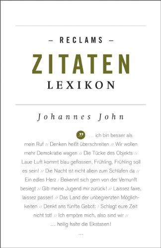 9783150191941: Reclams Zitaten-Lexikon