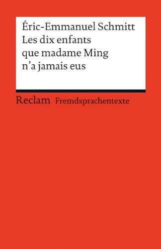 9783150198780: Les dix enfants que Madame Ming n'a jamais eus