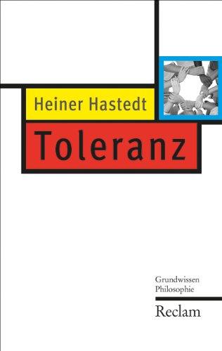 9783150203392: Toleranz: Grundwissen Philosophie