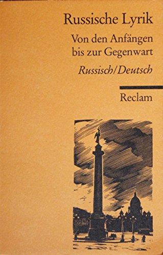 9783150279946: Russische Lyrik. Von den Anfängen bis zur Gegenwart. Russ. /Dt.