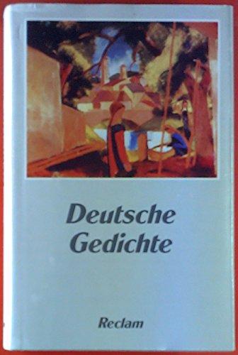 9783150280126: Deutsche Gedichte: Eine Anthologie (Universal-Bibliothek)