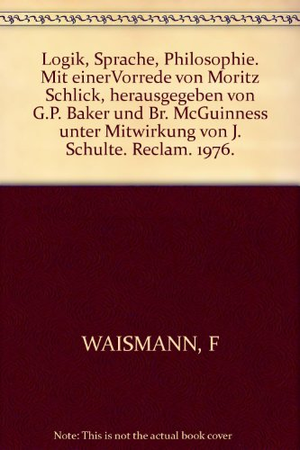 9783150298275: Logik, Sprache, Philosophie (Universal-Bibliothek ; Nr. 9827) (German Edition)