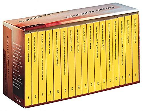9783150300220: Die deutsche Literatur 1 - 17.