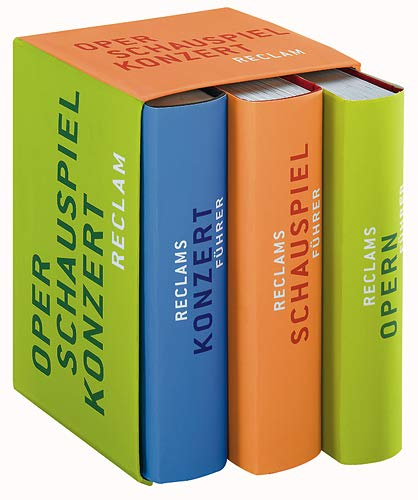 9783150300350: Reclams Musik- und Theaterkassette. 3 Bände: Opernführer /Schauspielführer /Konzertführer