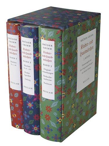 9783150300428: Kinder- und Hausmarchen. 3 Bande: Ausgabe letzter Hand mit den Originalanmerkungen der Bruder Grimm