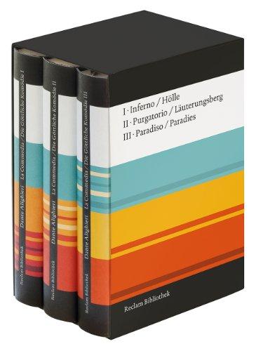 9783150300459: La Commedia / Die Göttliche Komödie: Drei Bände in Kassette. Italienisch/Deutsch