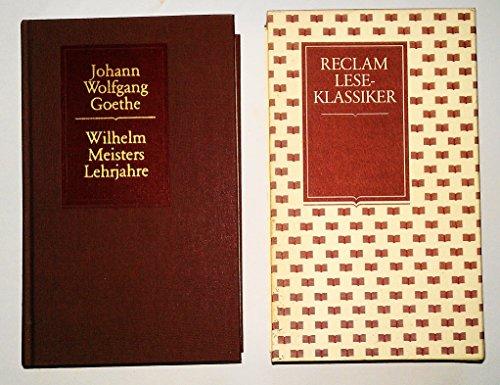 9783150500125: Wilhelm Meisters Lehrjahre. (Reclam Lese-Klassiker)