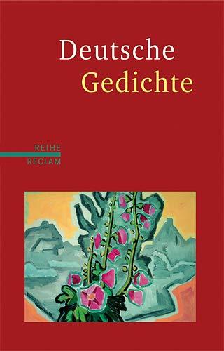 9783150500507: Deutsche Gedichte