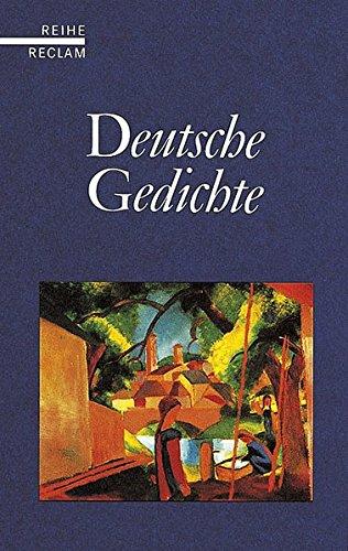 9783150580127: Deutsche Gedichte